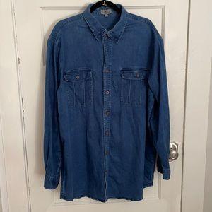 TravelSmith Washed Denim Shirt Size XLL